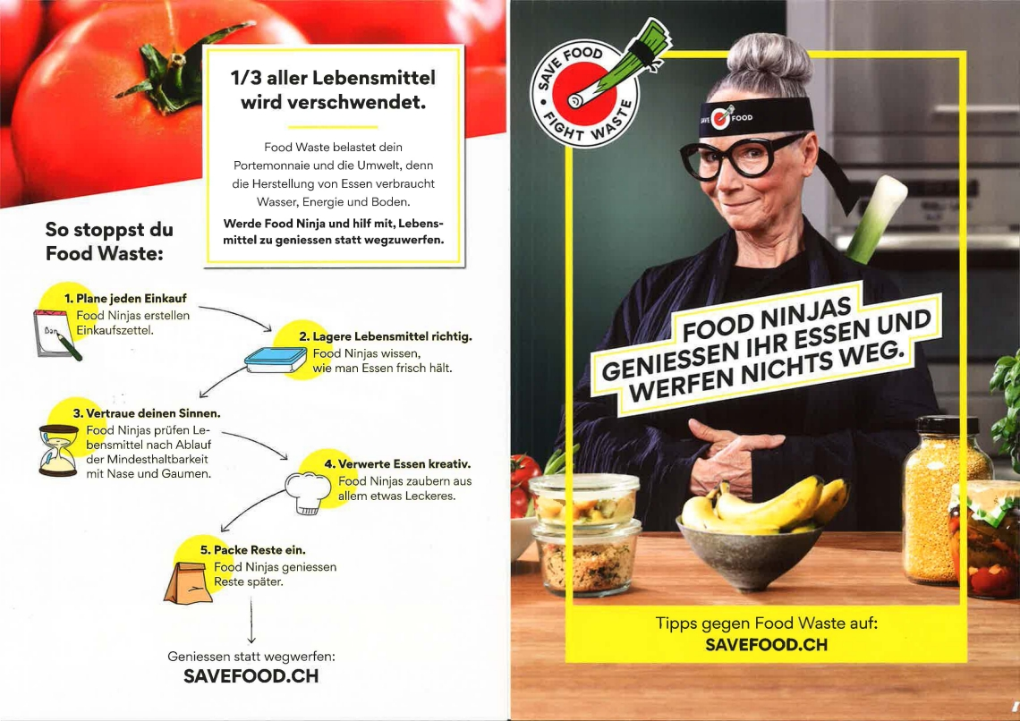 Kampagne Save Food, Fight Waste von Pusch
